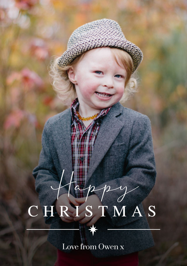 Create Dual Script Personalised Christmas Card Card