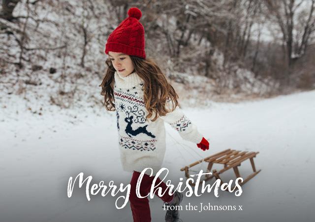 Create Xmas Script | Landscape Photo Christmas Card Card