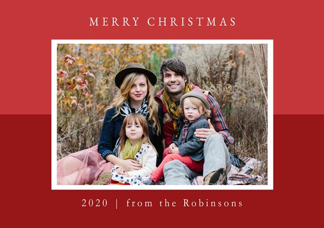Create a Two Tone | Landscape Photo Christmas Card Photo Card