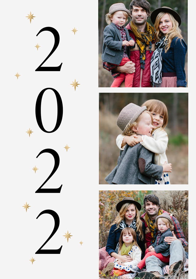 2022 Personalised New Year Card