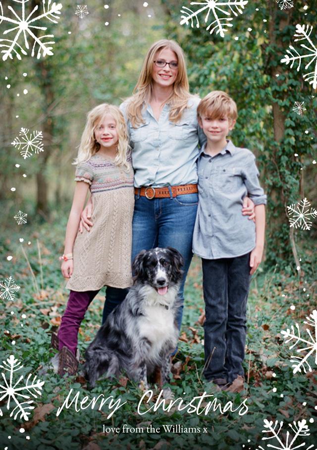 Snowflakes Personalised Christmas Card