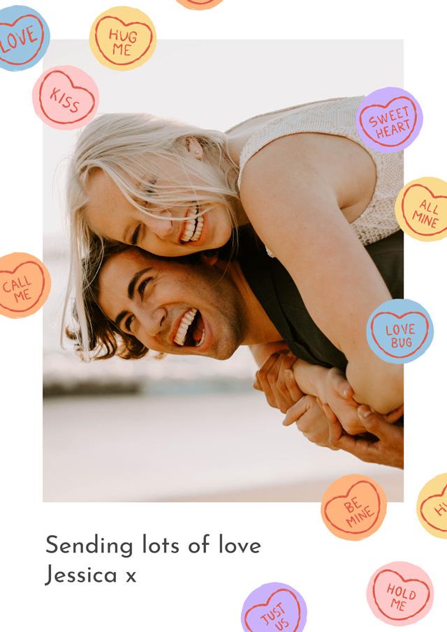 Photo Card Love Hearts