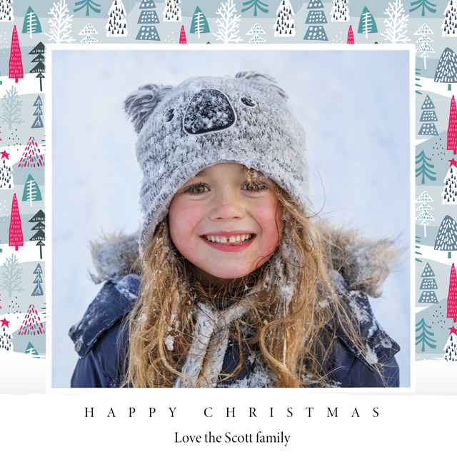 Festive Trees | Square Photo Christmas Card