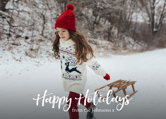 Create Signature Personalized Holiday Card Card