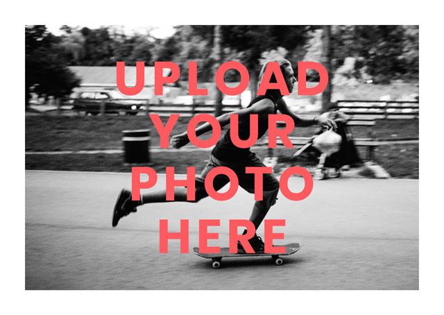 Create Landscape Photo Card White Border Card