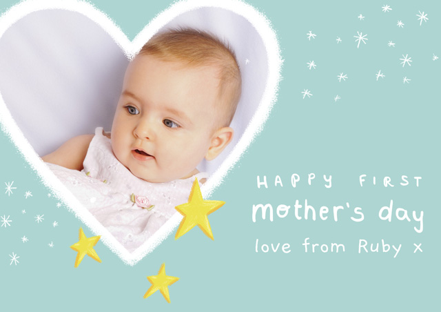 Photo First Mother's Day Card Heart