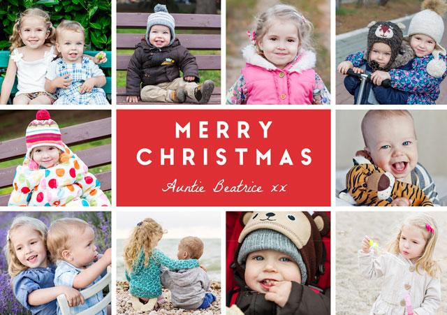 Joyful Collage Personalised Christmas Card