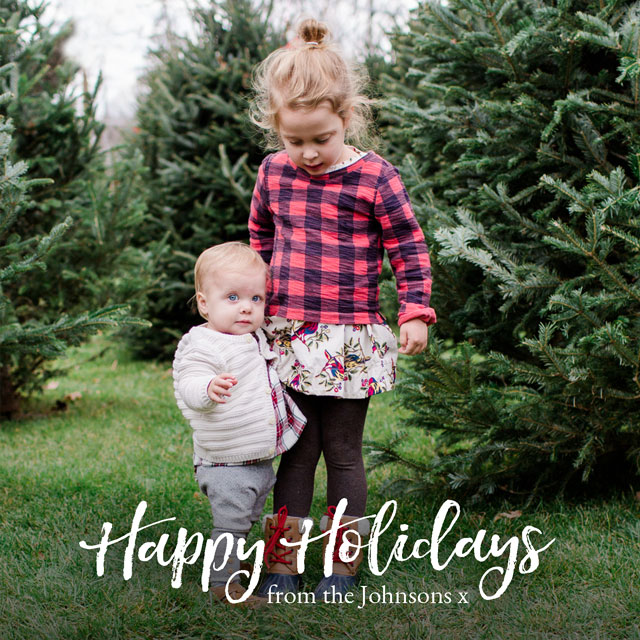 Create Festive Font Personalized Holiday Card Card