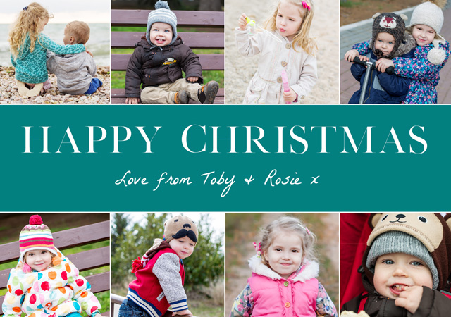 Create Festive Collage Personalised Christmas Card Card