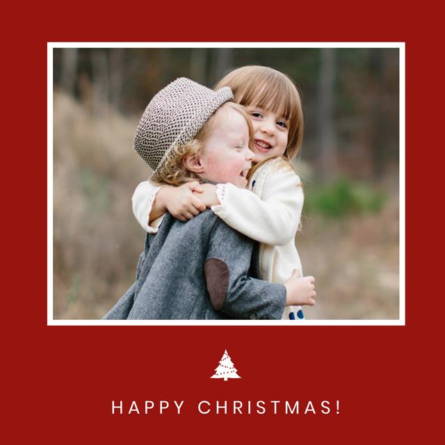 Xmas Tree | Square Photo Christmas Card