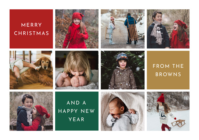 Create Colour Collage Personalised Christmas Card Card