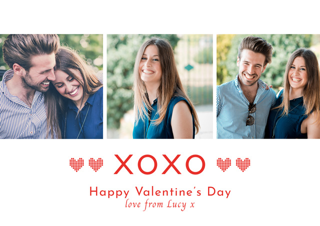 Photo Card Valentines Xoxo