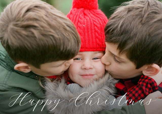 Create Happy Personalised Christmas Card Card