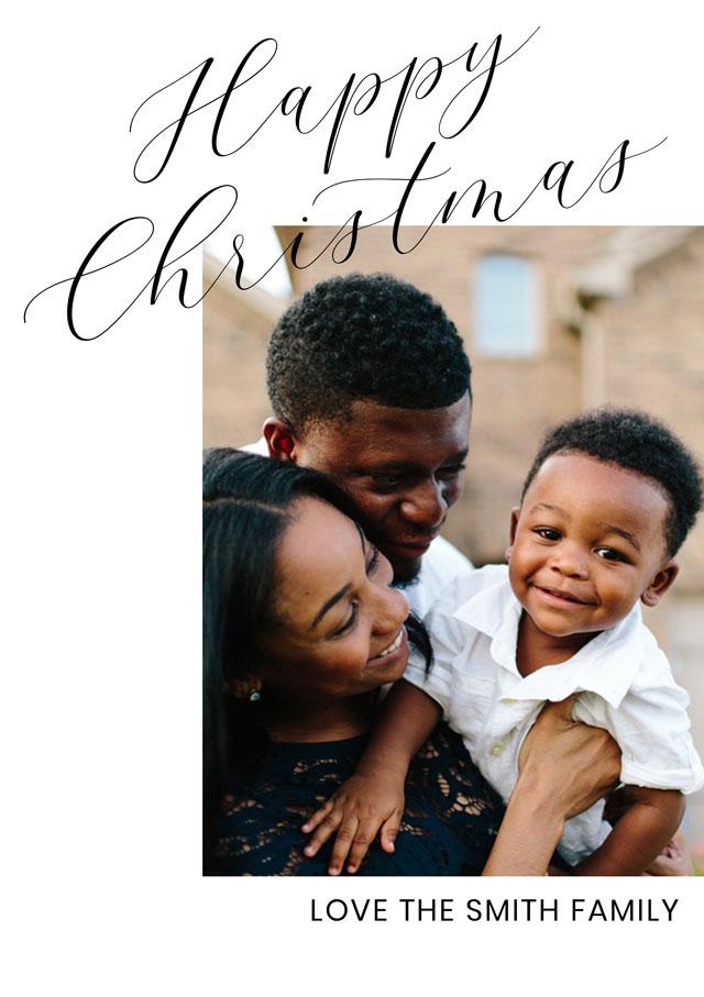 Create Simply Script Personalised Christmas Card Card