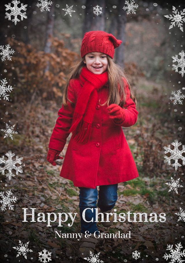 Create Super Snowflakes Personalised Christmas Card Card