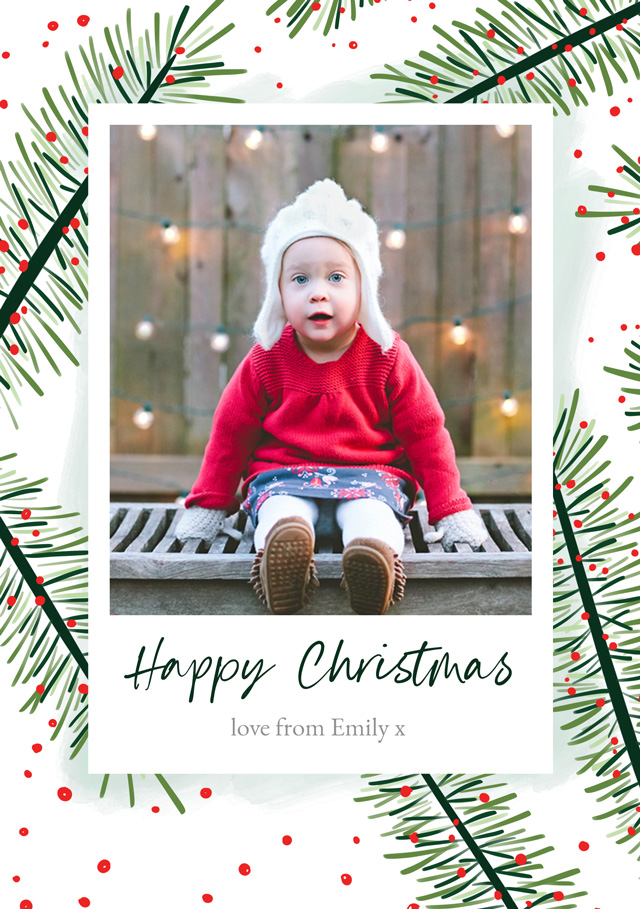 Yew | Portrait Photo Christmas Card