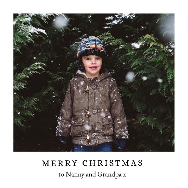 White Frame Personalised Christmas Card