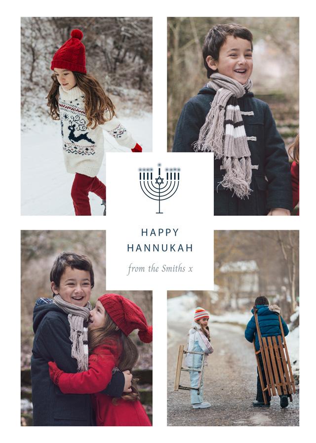 Create 2021 Personalized Hanukkah Card Card