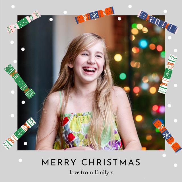 Create Crackers | Portrait Photo Christmas Card Card