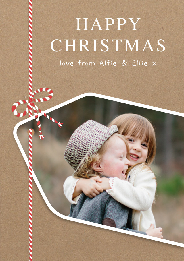 Gift Tag Personalised Christmas Card