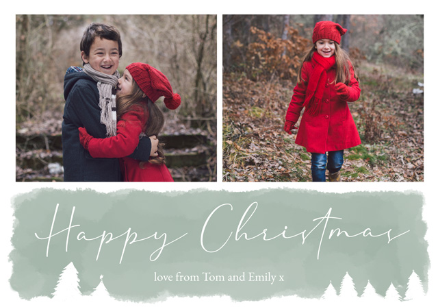 Create Watercolour Personalised Christmas Card Card