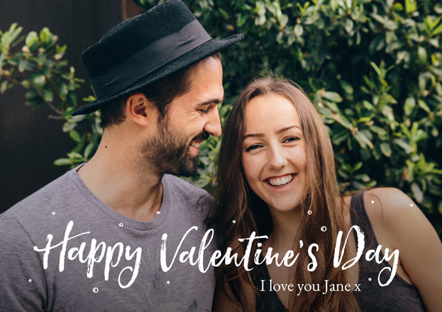 Photo Card Valentines Script