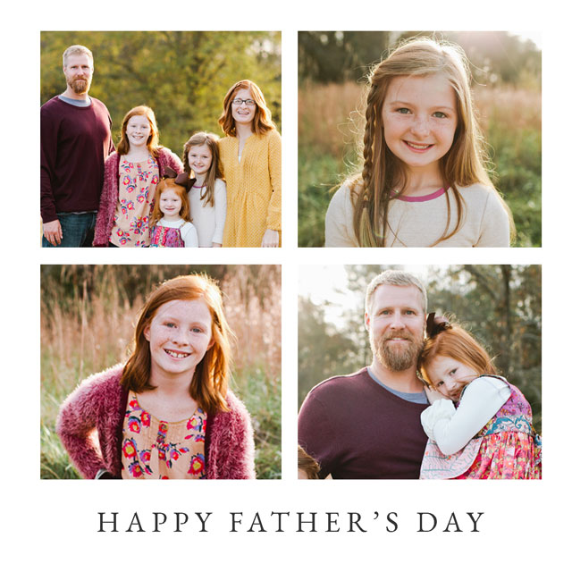 Create Happy Father's Day Collage Card