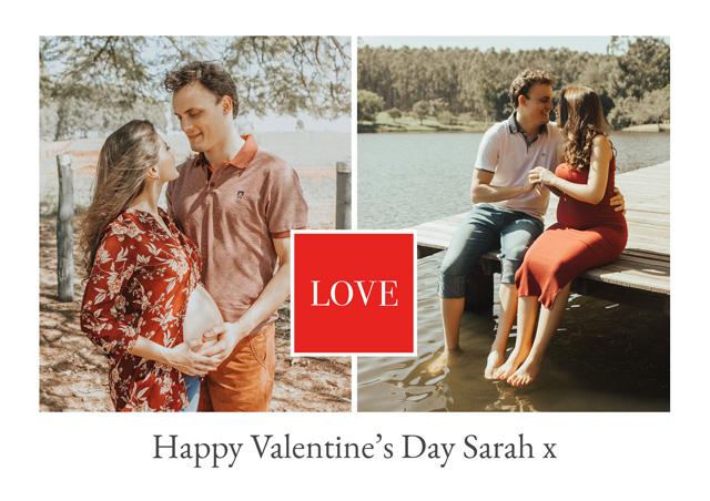 Photo Card Valentines Love Square
