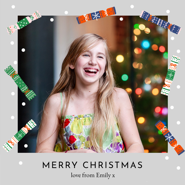 Create Crackers Personalised Christmas Card Card