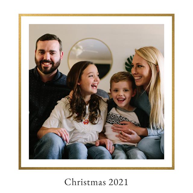 Create Royal Personalised Christmas Card Card