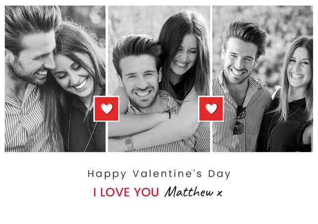 Photo Card Valentines Two Mini Hearts