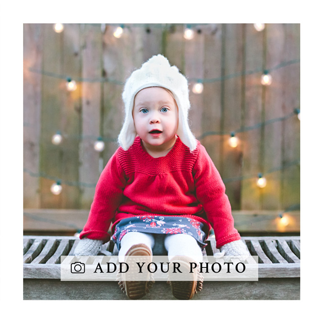 Create Square Photo Card With White Border Card