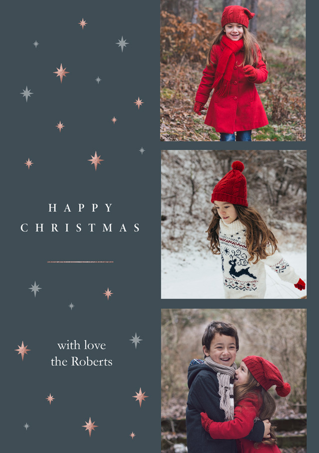 Starry Night Collage | Portrait Photo Christmas Card