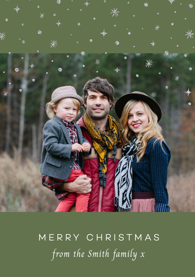 Let It Snow Personalised Christmas Card