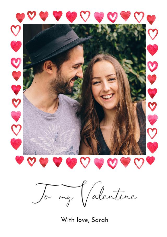 Photo Card Valentines Border