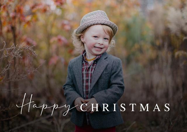 Classic Script | Landscape Photo Christmas Card