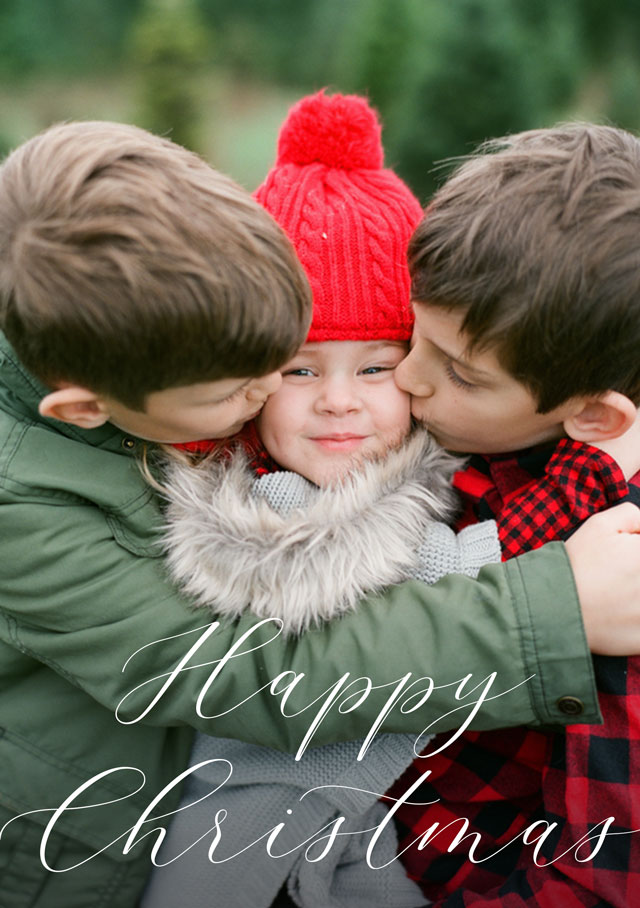 Create Happiness Personalised Christmas Card Card