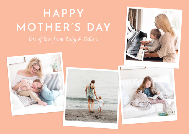 Create Photo Mother's Day Card Retro Card