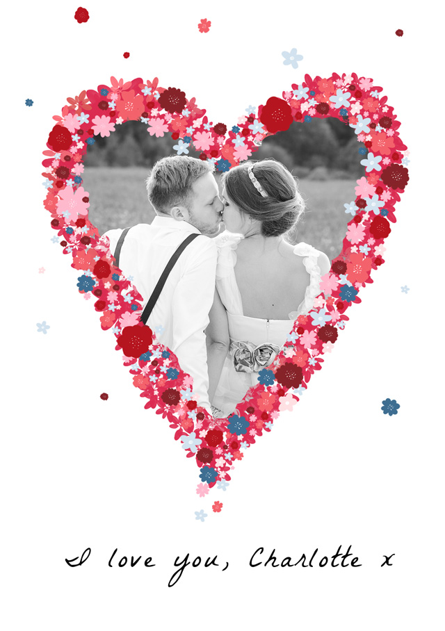Photo Card Love Flower Heart