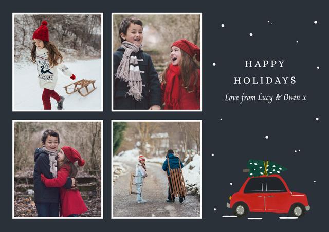 Holiday Car | Landscape Photo Christmas Card