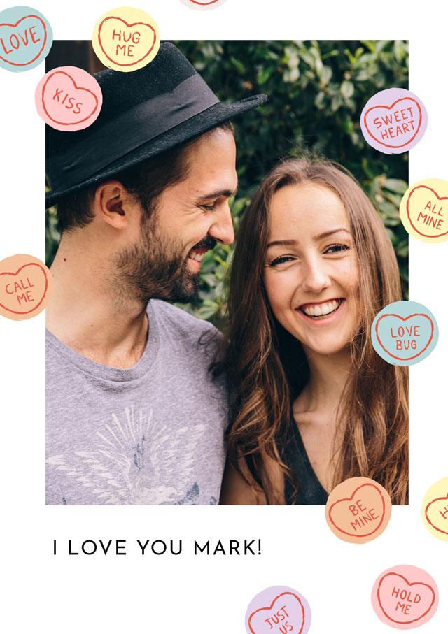 Photo Card Valentines Love Hearts