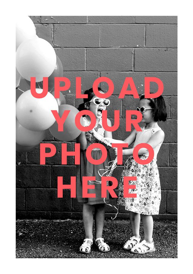 Portrait Photo Card White Border