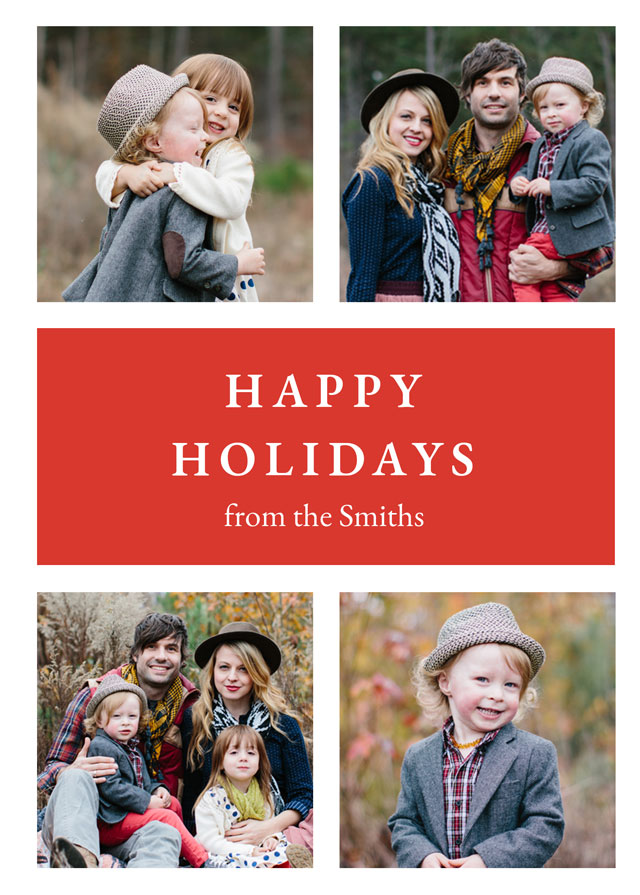 Classic Personalized Holiday Card
