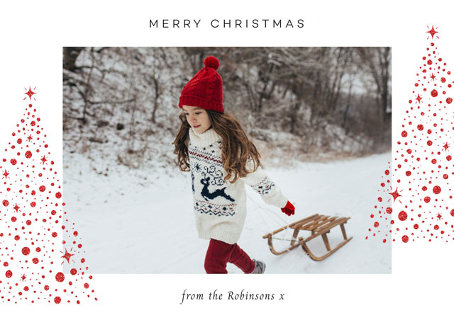 Create Xmas Trees Personalised Christmas Card Card