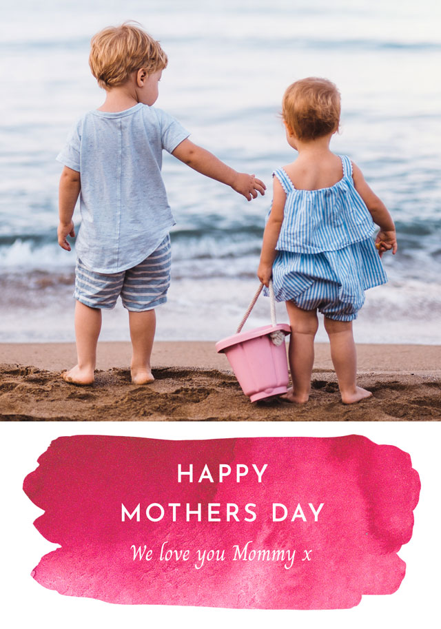Photo Mother's Day Card Watercolour