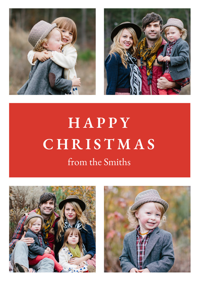 Create Classic Collage | Portrait Photo Christmas Card Card
