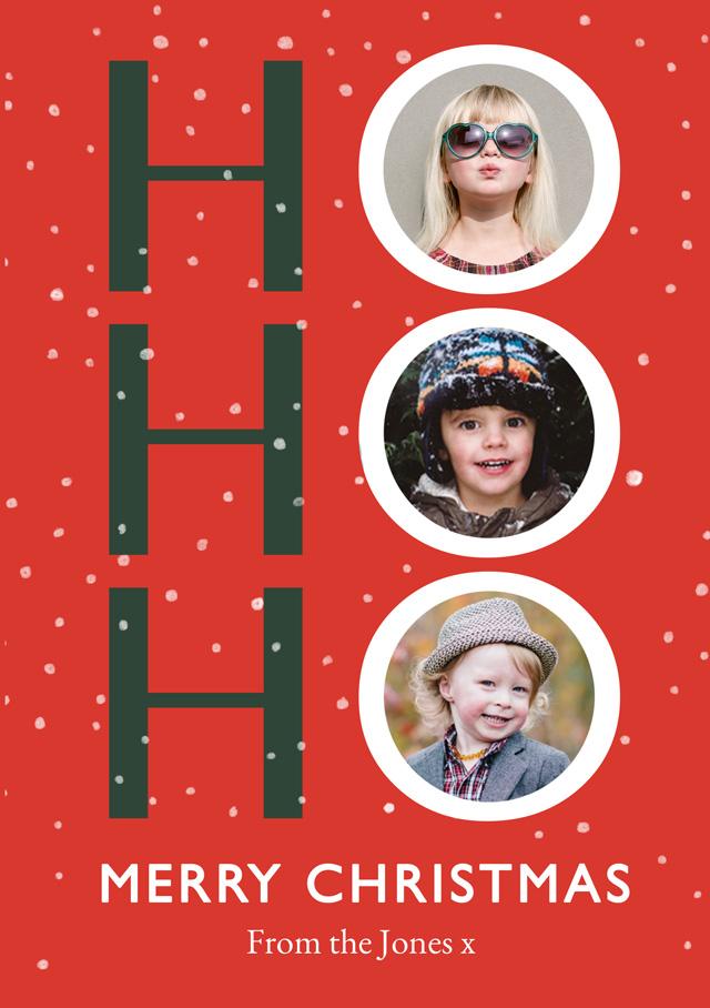 Ho Ho Ho Personalised Christmas Card