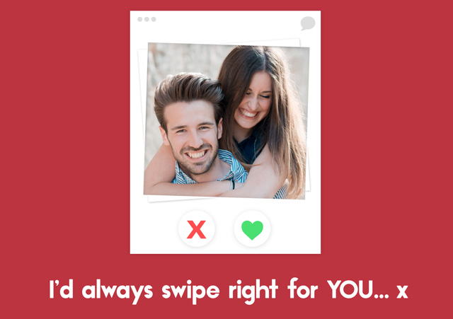 Photo Card Valentines Tinder