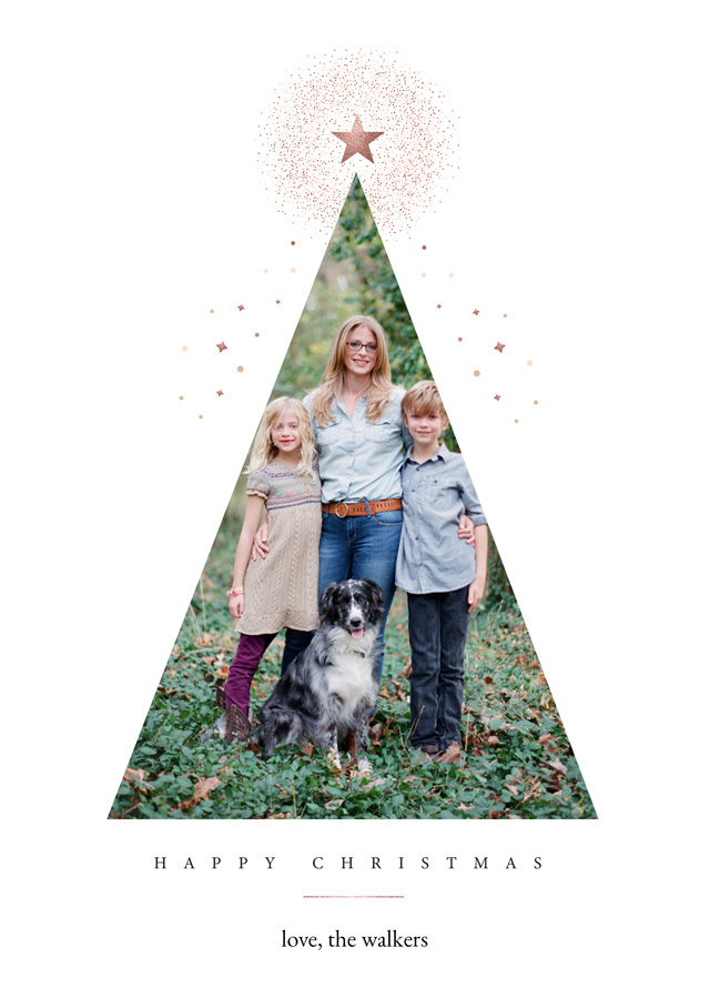 Festive Tree | Portrait Photo Christmas Card