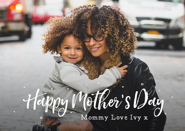 Photo Mother's Day Card Script Overlay